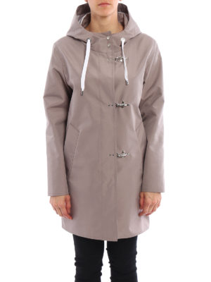 Fay: short coats online - Hooded raincoat