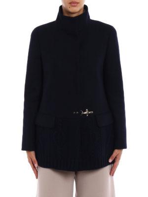 Fay: short coats online - Knitted wool hem short coat
