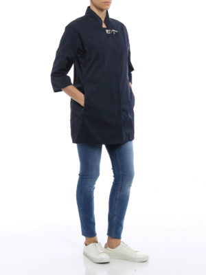 Fay: short coats online - Lightweight nylon overcoat