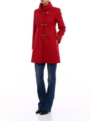 Fay: short coats online - Romantic red wool cloth coat