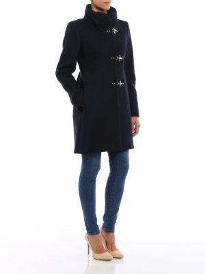 Fay: short coats online - Romantic wool blend coat