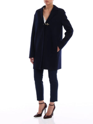 Fay: short coats online - Soft cashmere blend coat