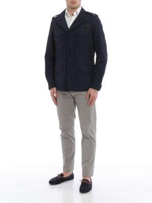 Fay: short coats online - Techno fabric pea coat