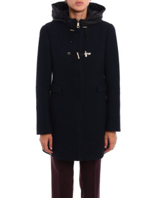 Fay: short coats online - Two-tone double front duffle coat