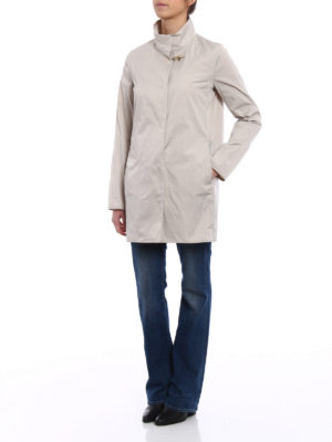 Fay: short coats online - Ultralight beige nylon rain coat