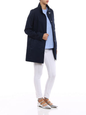 Fay: short coats online - Ultralight blue nylon rain coat