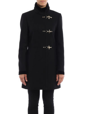 Fay: short coats online - Virginia velvet trimmed coat