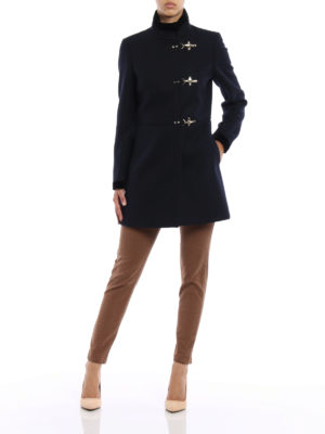 Fay: short coats online - Virginia velvet trimmed coat