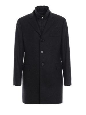 FAY: cappotti corti - Cappotto in misto cashmere e gilet staccabile