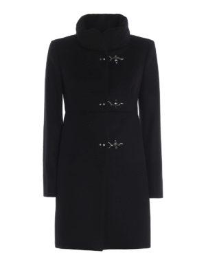 FAY: cappotti corti - Cappotto Romantic nero in lana e cashmere