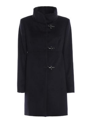 FAY: cappotti corti - Cappotto Romantic blu in lana e cashmere
