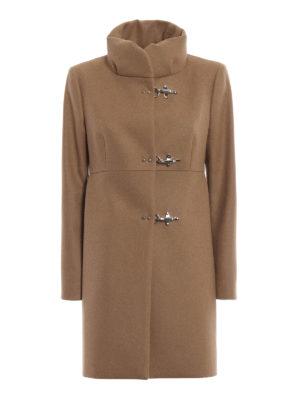 FAY: cappotti corti - Cappotto Romantic cammello in lana e cashmere