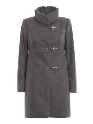 FAY: cappotti corti - Cappotto Romantic grigio in lana e cashmere