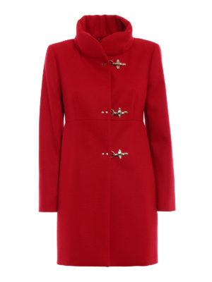 Fay: short coats - Romantic red wool cloth coat