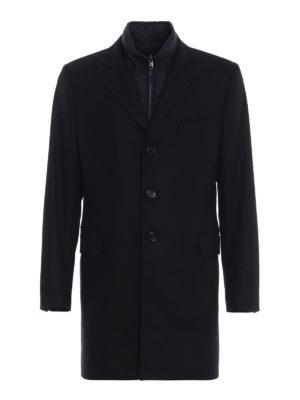 FAY: cappotti corti - Cappotto dritto con gilet interno imbottito