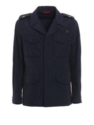 Fay: short coats - Techno fabric pea coat
