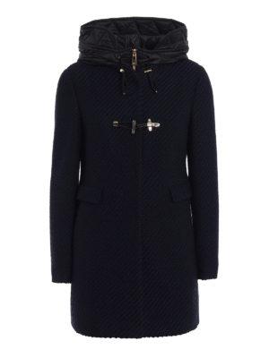 Fay: short coats - Two-tone double front duffle coat