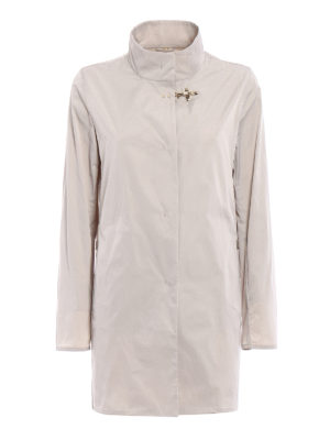 Fay: short coats - Ultralight beige nylon rain coat