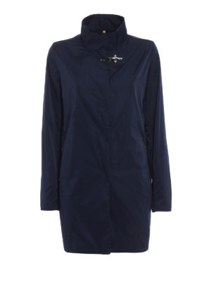 Fay: short coats - Ultralight blue nylon rain coat
