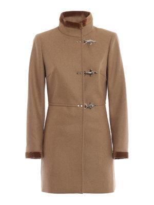FAY: cappotti corti - Cappotto Virginia in lana e cashmere cammello