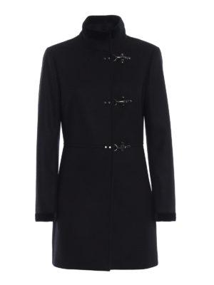 FAY: cappotti corti - Cappotto Virginia in lana e cashmere blu