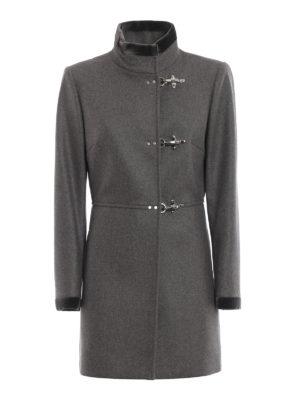 FAY: cappotti corti - Cappotto Virginia in lana e cashmere grigio