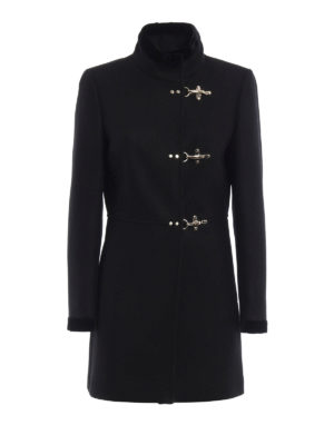 Fay: short coats - Virginia velvet trimmed coat