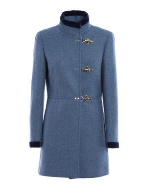 Fay: short coats - Virginia velvet trimmed coat