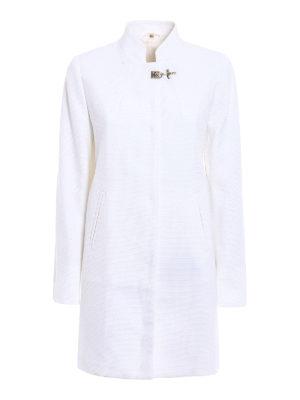 Fay: short coats - White cotton overcoat