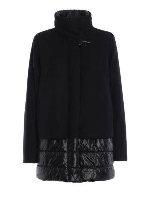 FAY: cappotti corti - Cappotto in lana e cashmere inserti in nylon