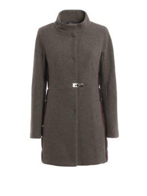 Fay: short coats - Wool and nylon montgomery coat