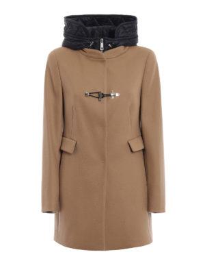 FAY: cappotti corti - Cappotto con double front e cappuccio