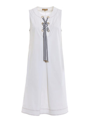 Fay: short dresses - Cotton sleeveless sailor dress