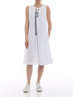 Fay: short dresses online - Cotton sleeveless sailor dress