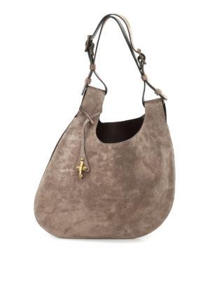 Fay: shoulder bags - Double handle leather hobo bag