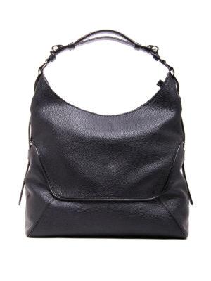 Fay: shoulder bags - Hammered leather hobo bag