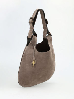 Fay: shoulder bags online - Double handle leather hobo bag