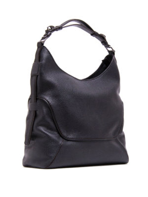 Fay: shoulder bags online - Hammered leather hobo bag
