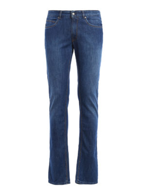 Fay: straight leg jeans - Faded denim jeans