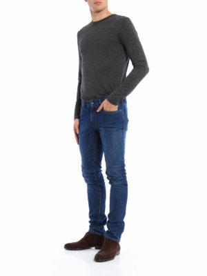 Fay: straight leg jeans online - Faded denim jeans
