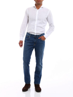 Fay: straight leg jeans online - ST 196 light wash jeans