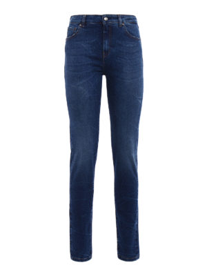 Fay: straight leg jeans - Stretch denim faded jeans