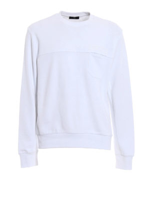 Fay: Sweatshirts & Sweaters - Chest pocket cotton sweatshirt