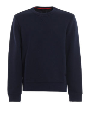 FAY: Felpe e maglie - Felpa in misto cotone blu scuro