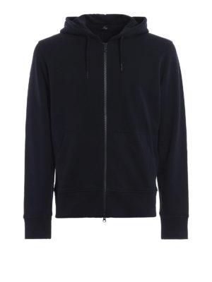 FAY: Felpe e maglie - Felpa con cappuccio e zip blu scuro