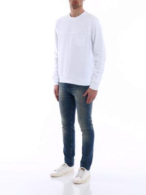 Fay: Sweatshirts & Sweaters online - Chest pocket cotton sweatshirt