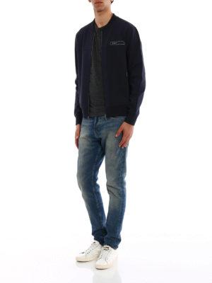 Fay: Sweatshirts & Sweaters online - Rubber logo cotton sweatshirt