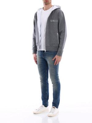 Fay: Sweatshirts & Sweaters online - Rubber logo detail cotton hoodie