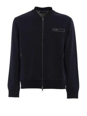 Fay: Sweatshirts & Sweaters - Rubber logo cotton sweatshirt