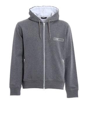 Fay: Sweatshirts & Sweaters - Rubber logo detail cotton hoodie